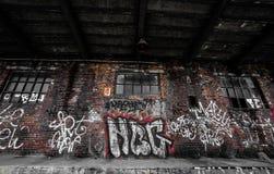 покинутый поезд станции Стоковые Фотографии RF