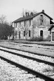 покинутый поезд станции Стоковая Фотография
