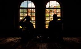 покинутый поезд станции Стоковое Фото