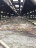 покинутый поезд станции Стоковые Изображения