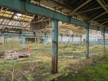 Покинутый пол фабрики Стоковые Изображения