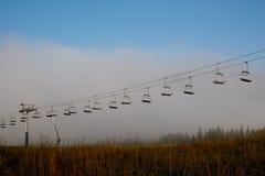 Покинутый подъем лыжи в ландшафт зимы Стоковое Изображение