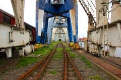 Покинутый промышленный док Стоковая Фотография RF