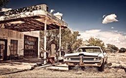 Покинутый ресторан на трассе 66 в Неш-Мексико стоковая фотография