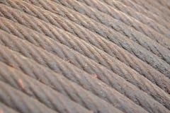 Покинутый ржавый стальной кабель - селективный фокус Стоковые Изображения RF