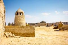 Покинутый рыбацкий поселок в Рас-Аль-Хайма Стоковая Фотография