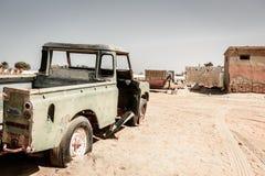 Покинутый рыбацкий поселок в Рас-Аль-Хайма Стоковое Фото