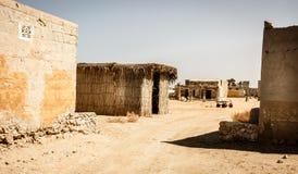 Покинутый рыбацкий поселок в Рас-Аль-Хайма стоковые фотографии rf
