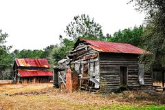 покинутый сельский дом Стоковые Фотографии RF