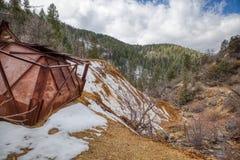Покинутый серебряный рудник в национальном лесе Аризоны Prescott стоковое фото rf