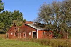 Покинутый старый красный амбар Стоковые Изображения RF
