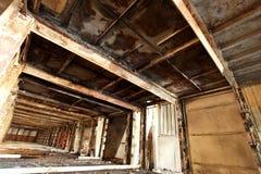 покинутый старый пакгауз Стоковая Фотография