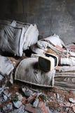 покинутый старый сбор винограда tv Стоковое Изображение