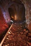 покинутый тоннель золотодобывающего рудника стоковое фото rf