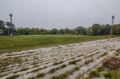 покинутый футбольный стадион Стоковая Фотография