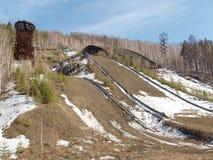 Покинутый лыжный трамплин Стоковое Изображение RF