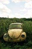 покинутый vw автомобиля жука стоковая фотография rf