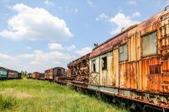 2 покинутых поезда Стоковая Фотография RF