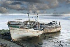 3 покинутых траулера рыбной ловли Стоковые Изображения RF