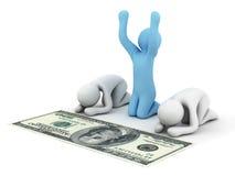 поклонение доллара Стоковые Изображения RF