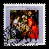 Поклонение мудрого, serie 2004 рождества, около 2004 стоковые фотографии rf