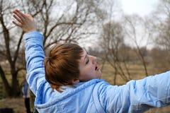поклонение поднятое руками Стоковая Фотография