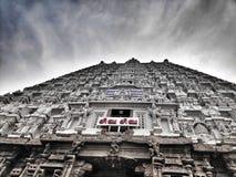 Поклонение lordshiva архитектуры Southindia Индии виска Thiruvannamalai религиозное стоковая фотография