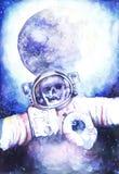 Покойные астронавты в космосе Стоковое Изображение