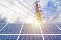 Поколение солнечной энергии стоковые изображения