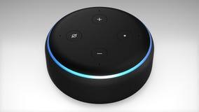 Поколение точки отголоска Амазонки Alexa 3-ее бесплатная иллюстрация