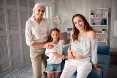 3 поколения не имея никакой зазор в сообщении Стоковые Изображения