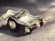 поколоченная валюта автомобиля сделала модельные usd Стоковая Фотография RF
