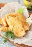 Поколоченные рыбы с лимоном Стоковые Фото
