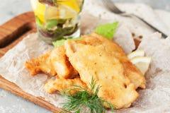 Поколоченные рыбы с лимоном Стоковые Изображения RF