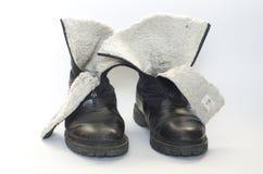 поколоченные старые ботинки Стоковое Изображение