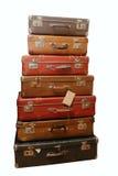 поколоченные старые чемоданы кучи Стоковое фото RF