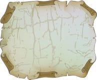 поколоченный треснутый старый бумажный лист Стоковая Фотография RF