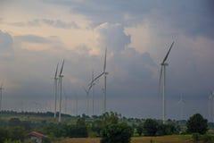 Поколение энергии ветра Стоковые Изображения