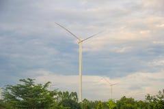 Поколение энергии ветра Стоковое Изображение