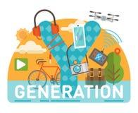 Поколение y Иллюстрация штока