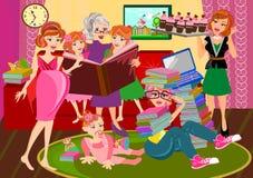 Поколения женщины иллюстрация вектора
