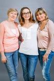 3 поколения с поразительным сходством Стоковое Фото