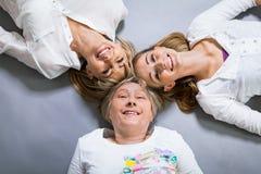 3 поколения с поразительным сходством Стоковые Фотографии RF