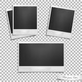 поколоченный введенный в моду квадрат тени старого фото ленточной машины углов немедленный изолированный поляроидный округленный  Стоковые Фотографии RF