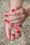 2 покрасили дизайн ногтя Стоковая Фотография RF