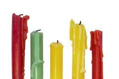 Покрашенные свечки Стоковое Фото