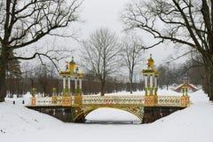 Покрасил мост с башенками Стоковые Изображения
