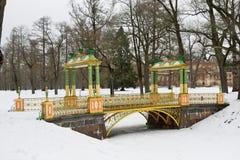 Покрасил мост с башенками Стоковая Фотография RF
