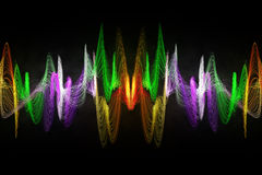Покрасьте абстрактную звуковую войну Стоковые Фотографии RF