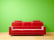 покрасьте бархат теней красного цвета кресла иллюстрация вектора